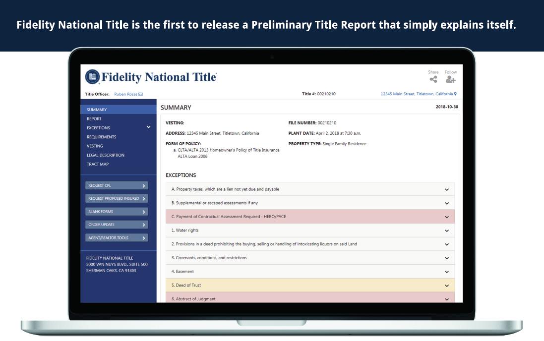 Fidelity Tools | Fidelity National Title - San Diego Title Team