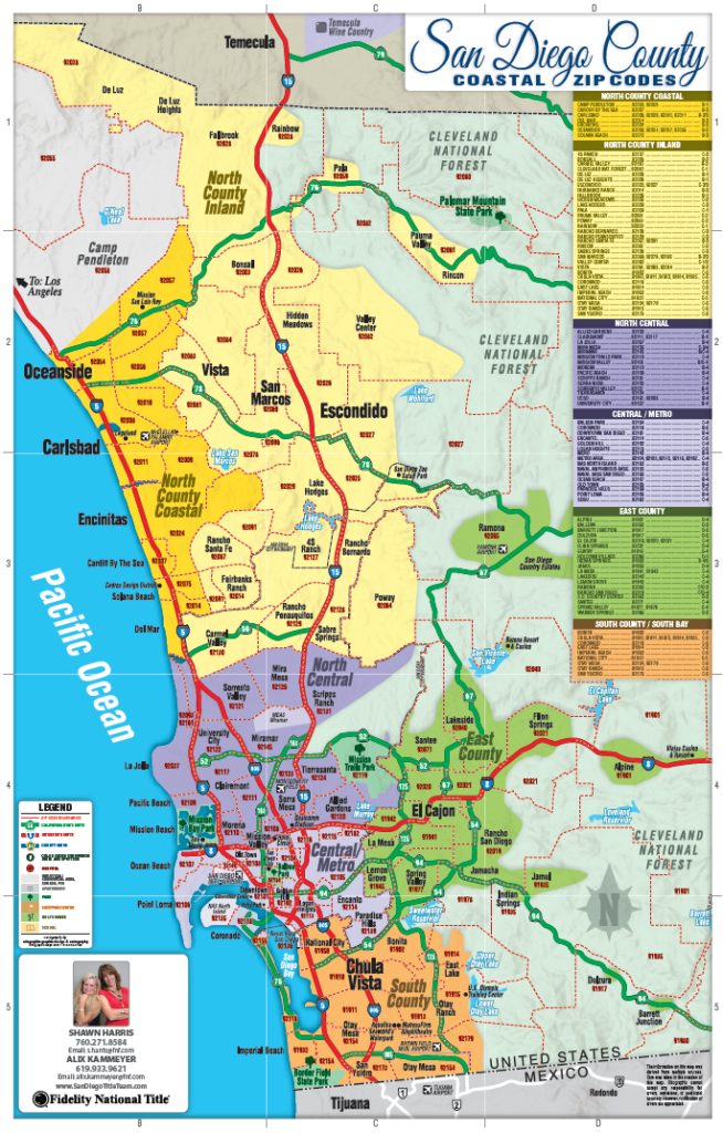San Diego Zip Code Map | Fidelity National Title - San Diego ...